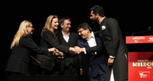 Tem Sanju accepting the Best Film Award